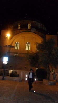 Hurva Synagogue at night